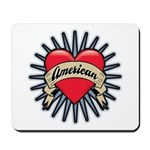American Tattoo Heart Mousepad