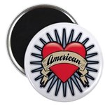 "American Tattoo Heart 2.25"" Magnet (10 pack)"