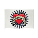 American Tattoo Heart Rectangle Magnet (10 pack)