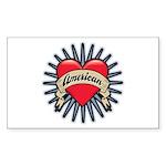 American Tattoo Heart Rectangle Sticker 10 pk)