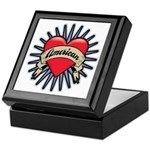 American Tattoo Heart Keepsake Box