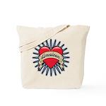 American Tattoo Heart Tote Bag