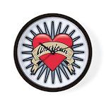 American Tattoo Heart Wall Clock