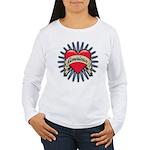 American Tattoo Heart Women's Long Sleeve T-Shirt