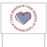 I Love Heart America Yard Sign
