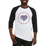 I Love Heart America Baseball Jersey