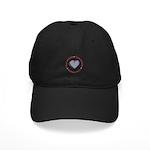 I Love Heart America Black Cap