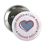 """I Love Heart America 2.25"""" Button"""