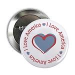 "I Love Heart America 2.25"" Button (100 pack)"