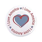 "I Love Heart America 3.5"" Button (100 pack)"