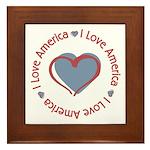 I Love Heart America Framed Tile