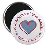 """I Love Heart America 2.25"""" Magnet (100 pack)"""