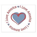 I Love Heart America Small Poster