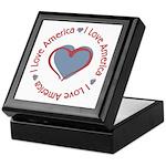 I Love Heart America Keepsake Box