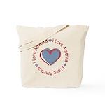 I Love Heart America Tote Bag