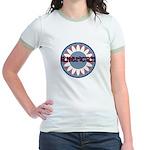 American Flower Red White Blue Jr. Ringer T-Shirt