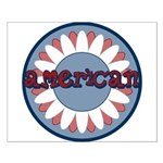 American Flower Red White Blue Small Poster