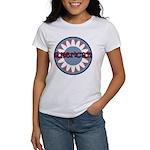 American Flower Red White Blue Women's T-Shirt