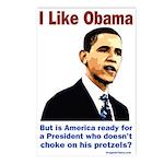 Obama But Pretzel Ready Postcards