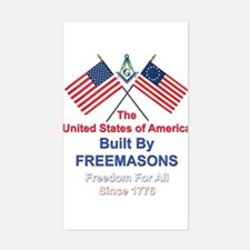 Masonic 4th of July Rectangle Decal