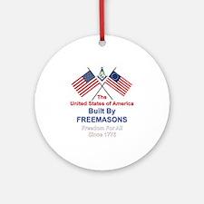Masonic 4th of July Ornament (Round)