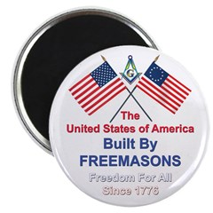 "Masonic 4th of July 2.25"" Magnet (100 pack)"