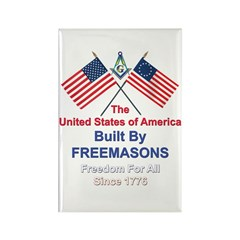 Masonic 4th of July Rectangle Magnet (10 pack)