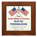 Masonic 4th of July Framed Tile