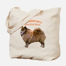 German Spitz kisses Tote Bag