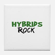 Hybrid Cars Rock Tile Coaster