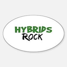 Hybrid Cars Rock Oval Decal
