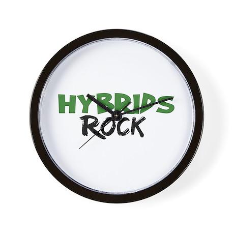 Hybrid Cars Rock Wall Clock