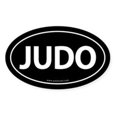 Judo Auto Sticker Traditional -Black (Oval)