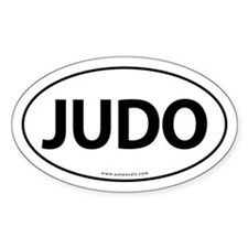 Judo Auto Sticker Traditional -White (Oval)