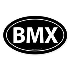BMX Traditional Auto Sticker -Black (Oval)