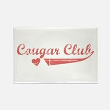 Cougar Club Rectangle Magnet