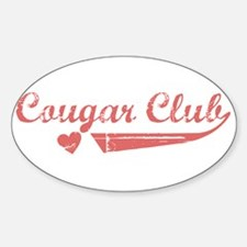 Cougar Club Oval Decal