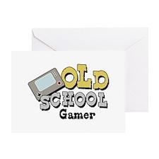Old School Gamer Greeting Card