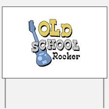 Old School Rocker Yard Sign