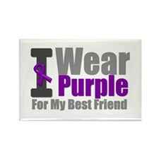 I Wear Purple (BF) Rectangle Magnet