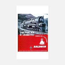 Baldwin S-2 Steam Locomotive Rectangle Decal