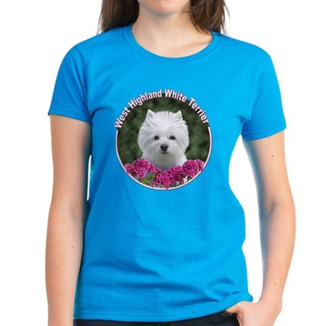 Westie Circle Women's Dark T-Shirt