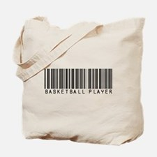 Basketball Player Barcode Tote Bag