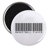 Basketball Player Barcode Magnet