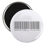 Basketball Player Barcode Magnet