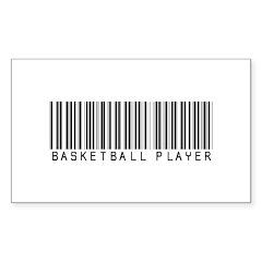 Basketball Player Barcode Rectangle Decal