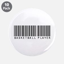 "Basketball Player Barcode 3.5"" Button (10 pack)"
