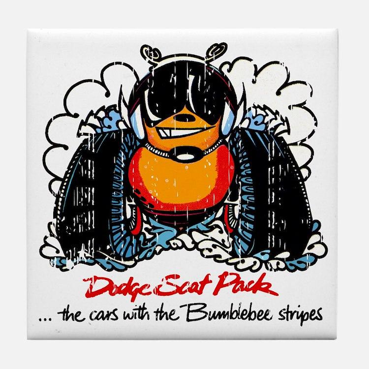 Dodge Scat Pack Tile Coaster