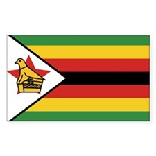 Flag of Zimbabwe Rectangle Decal