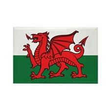 Flag of Wales Rectangle Magnet